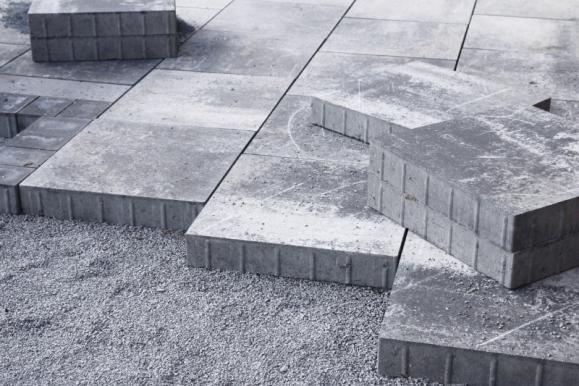 Terrasse en béton imprimé Granville